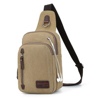 Men Canvas Stylish Casual Messenger Bags [10648212739]
