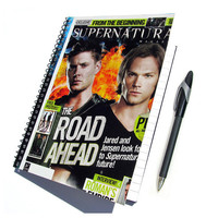 Supernatural Notebook / Journal UpCycled Sam and Dean Winchester (Multiple Cover Choices)