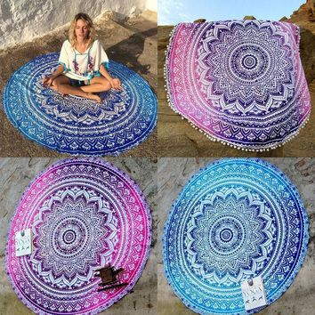 DCCKJG2 2016 New Retro Floral Hippie Boho Summer Beach Throw Towel Yoga Mat Decorative Wall Hanging Indian Mandala Tapestries Home Decor
