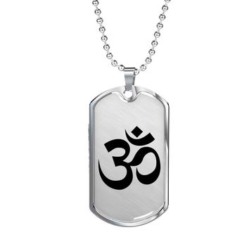 Om Symbol - Luxury Dog Tag Necklace