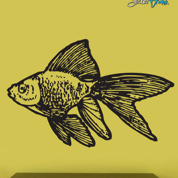 Vinyl Wall Decal Sticker Gold Fish #299