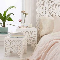 Sienna Carved Side Table Set