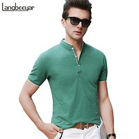 Polo Shirt Men Collar Men Summer Polo Shirt Short Sleeve Streetwear Slim Fit Men Clothes