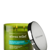 Bath and Body Works Aromatherapy Stress Relief Eucalyptus Spearmint 3-Wick Sc...