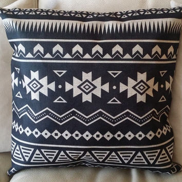 Aztec Pillow Cover, 18 x 18 Pillow Cover, Tribal Pillow Cover, Throw Pillow, Sofa Pillow
