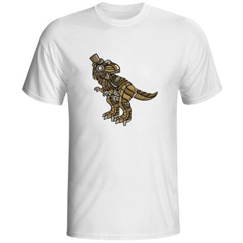 Wild Steampunk Rex T Shirt Retro Futuristic Dinosaur Art Nouveau Fashion Style Anime T-shirt Casual Rock Creative Unisex Tee