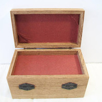 Vintage Accordion Wood Jewelry Box Trinket Sewing Kit Woven Design