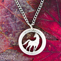 Free Spirit Horse hand cut coin by NameCoins on Etsy