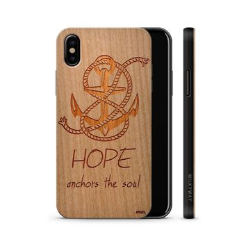 Wood  - Hope Anchors the Soul Phone Case Phone