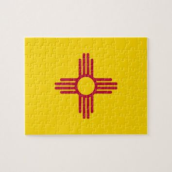 Puzzle with Flag of New Mexico State