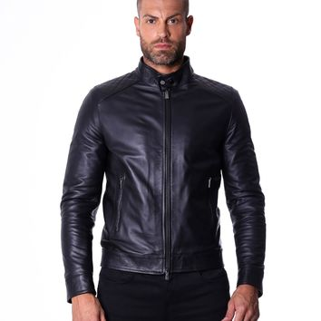 Black Handmade Leather Jacket