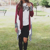 The Legacy Cardigan - Burgundy