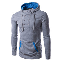 Men's Simple Cotton Hoodie, Warm Sweatshirt Suit Fashion , A Jacket