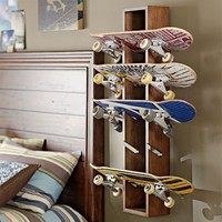 Rustic Skateboard Display | PBteen