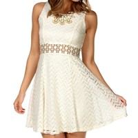 Ivory Crochet Sleeveless Dress
