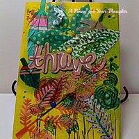 Thrive Mixed Media Canvas Board. Listed and Ready to Ship