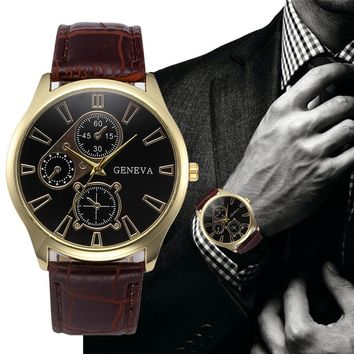 Retro Leather Band Watch