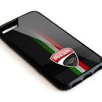 Ducati Corse Black Carbon Logo 5 5s 6 6s 7 8 X S7 S8 Plus SE Edge Note Case