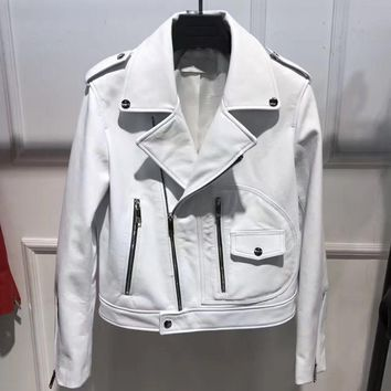 lady genuine sheep leather jacket