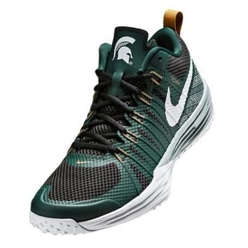 Michigan State Spartans Nike Lunar TR1 Shoe - Pro Green/White/Black/Bronze