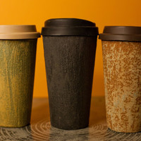 ceramic lined concrete coffee travel cup