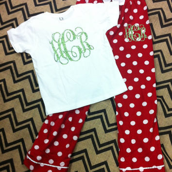 Monogram Christmas Pajamas
