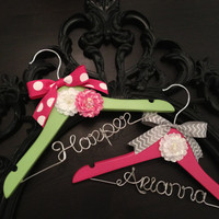 Baby Hanger / Children's Personalized Hanger - DESIGN YOUR OWN- Girl / Baby Shower Gift / Flower Girl Gift