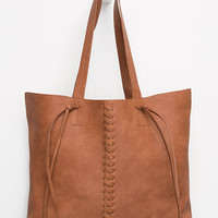 Twig & Arrow Melville Tote Cognac One Size For Women 26548540901