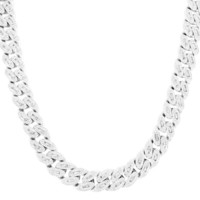 Custom 14mm Baguette Iced Out Miami Cuban Choker Necklace