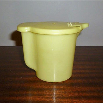Vintage 1950s Yellow Tupperware Creamer 400 mls / Milk Jug / Cream Milk Pitcher / Retro Yellow Jug