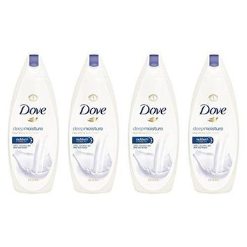 SHIP BY USPS Dove Body Wash, Deep Moisture 22 oz, Pack of 4