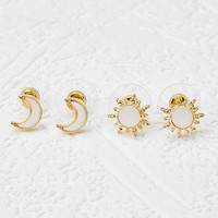Sun and Moon Stud Set