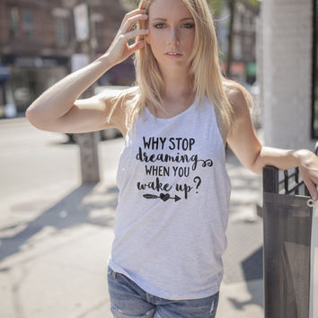 Why Stop Dreaming When You Wake Up Aztec Arrows Iron On Vinyl Decal BossBabe Tee You Choose the colo