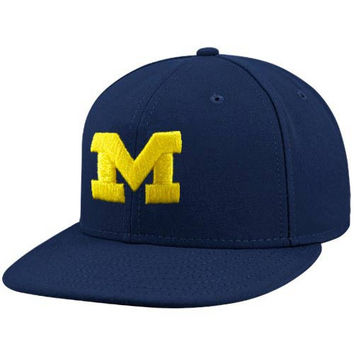 adidas Michigan Wolverines Navy Blue On Field Fitted Hat