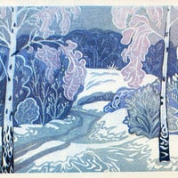 December - Time of Year (Artist L. Prisekina) Vintage Postcard - Printed in the USSR, «Fine Art», Moscow, 1973