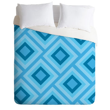Lara Kulpa Blue Diamonds Duvet Cover