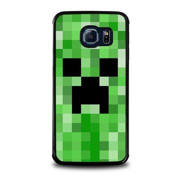 creeper minecraft 2 samsung galaxy s6 edge case cover  number 1