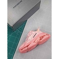 Balenciaga Triple S Clear Sole Trainers Pink Sneakers