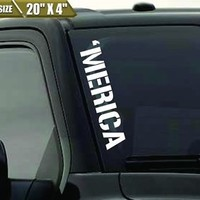 'Merica Windshield Banner Vinyl Decal Sticker America USA Decal Fits Ford F150