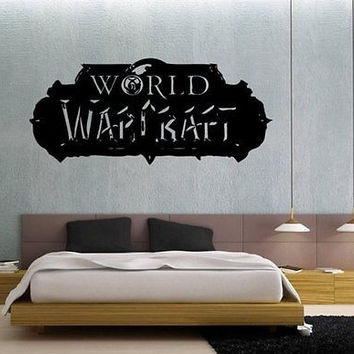 World of Warcraft Logo WoW Wall Art Sticker Decal 1