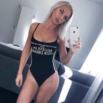 The Future belongs To Those Who Believe In Their Dreams Trikini - Women's One-Piece Push Up Swimsuit