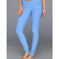 Nike Legend 2.0 Tight Low Rise Pant Distance Blue/Black - Zappos.com Free Shipping BOTH Ways