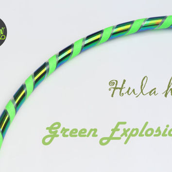 Free Shipping // Green Explosion Polypro Hoop