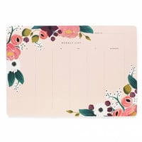 Rifle Paper Co. Pink Floral Weekly Desk Planner Pad