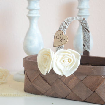 Personalized Vintage flower girl basket - 2013 collection