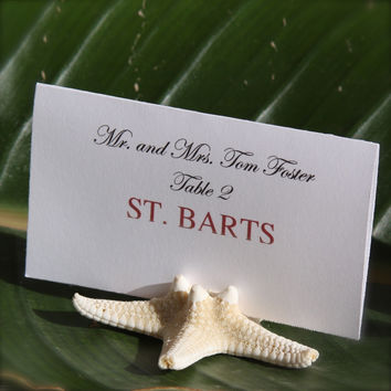 Natural Starfish Place Card Holder