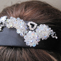 """Handmade Headband, Hair, Vintage Jewelry, Elle Magazine Says Ornate Headbands Are The Current """"IN"""" Accessory, CLEARANCE"""