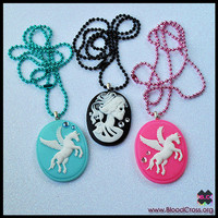 Cameo Necklaces  PICK ONE by BloodCross on Etsy