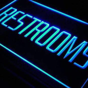 Restrooms Neon Sign (LED)