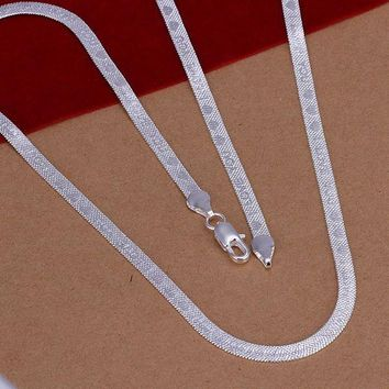 N201 Promotion! 925 jewelry silver plated necklace, 925 jewelry jewelry Chain I Love You Necklace